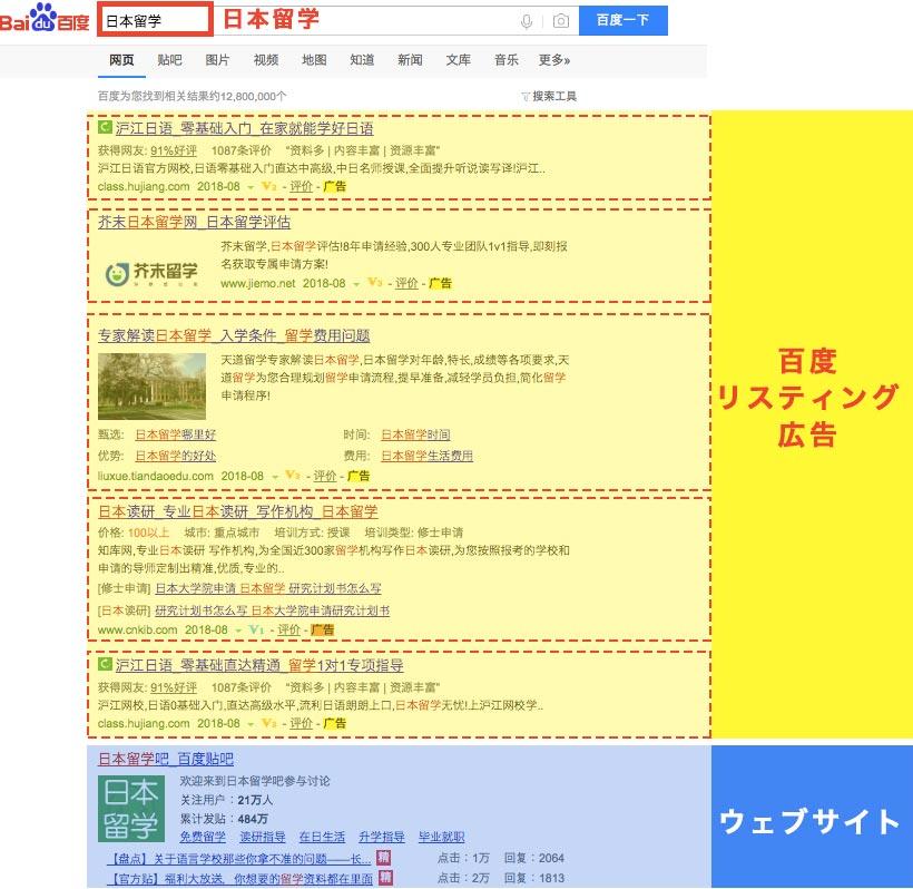 百度 バイドゥ 検索結果