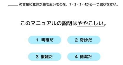 日本語能力試験(JLPT)問題例
