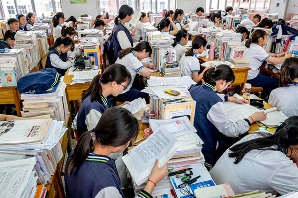 中国人の勉強風景